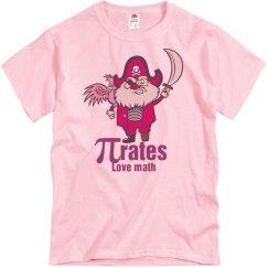 Pink Math Pirate T-Shirt