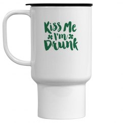 Kiss Me I am Drunk St Patricks Drinkware