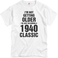 1940 classic birthday shirt