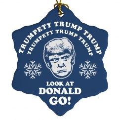 Trump Christmas Ornament Frosty