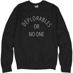 Deplorables Or No One Trump Wins
