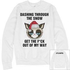 """Grumpy Cat"" Christmas Sweater"