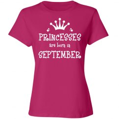 Princesses are born in September