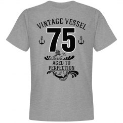 Nautical 75th birthday aged to perfection
