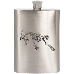 Cougar/Skeleton Flask