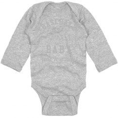 Baseball Baby Bodysuit Custom Text