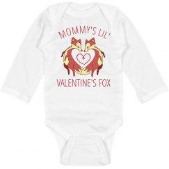 Mommy's Valentine's Day Fox Onesie