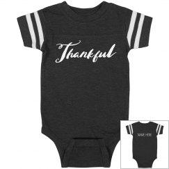 Custom Thankful Thanksgiving Onesie