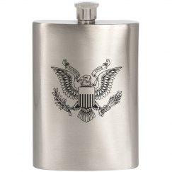 Pluribus Unum Eagle Flask