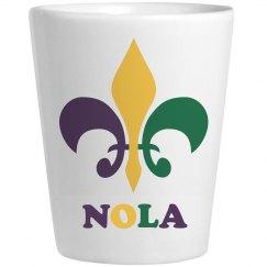 NOLA/Mardi Gras Shot Glass