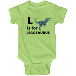 L is for Legosaurus Kids Onesies