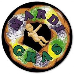 Mardi Gras Coaster