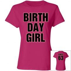 Birthday girl since 63