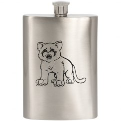Mean Baby Cougar Flask