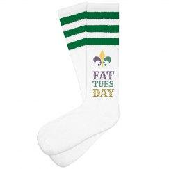 Fat Tuesday Mardi Gras Socks