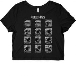 Feelings Chart- B & W