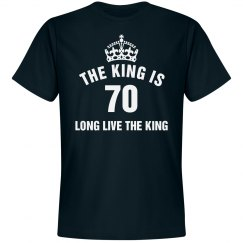 The king is 70