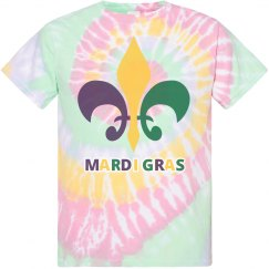 Mardi Gras Tie Dye T-Shirts