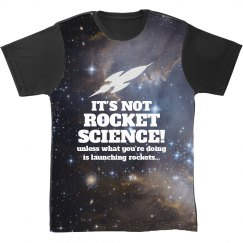 All Over Print Rocket Science Shirt
