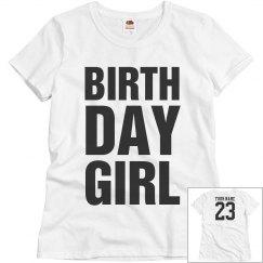 Birthday Girl your name 23
