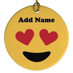 Custom Name Emoji Ornament