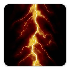 Orange Lightning Magnet