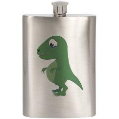 Sad Dinosaur Flask