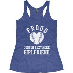 Proud Baseball Girlfriend Custom