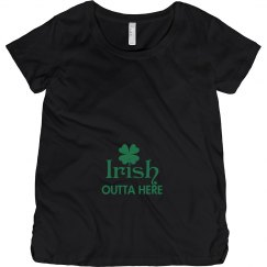 Irish Outta Here Maternity Top