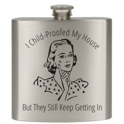 Mom Humor Flask
