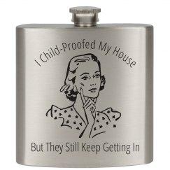 Mom Humor Flask