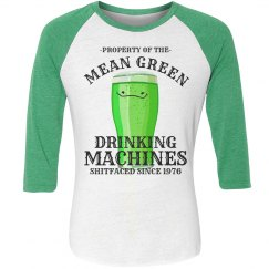 Mean Green Drinking Beer Team