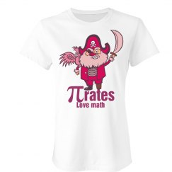 Pink Math Pirate T-Shirt