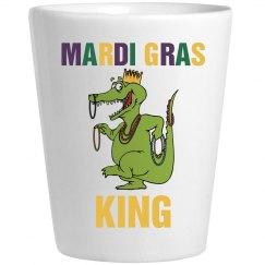 Mardi Gras King Shot Glass
