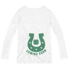 Coming Soon St Patricks Maternity Top