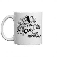 Auto Mechanic Cartoon