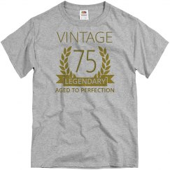 Vintage 75 aged to perfection