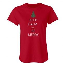 Keep Calm Be Merry Tree