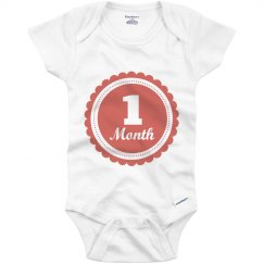 One Month Cute Baby Age Onesie