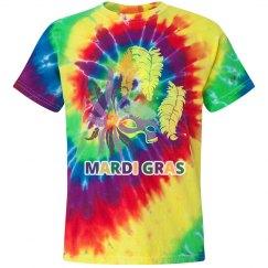 Mardi Gras Tie Dye Youth T-Shirt