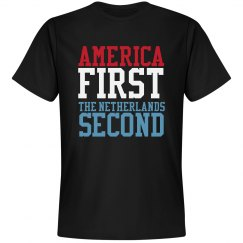 America First The Netherlands Second T-Shirt
