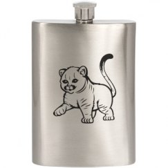 Baby Cougar Flask