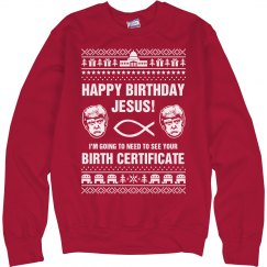 Happy Birthday Jesus From Trump