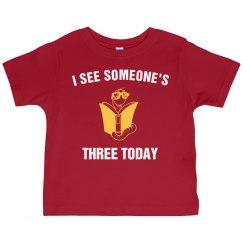 I see someones three