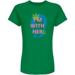 I'm with herb (ladie's variation green/pink)