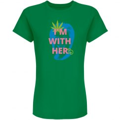I'm with herb (ladie's variation green/pink)
