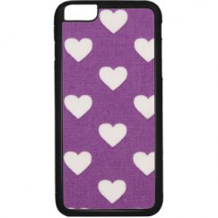 Purple/Hearts iPhone Case