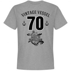 Nautical 70th birthday aged to perfection
