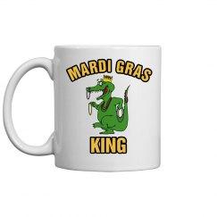 Mardi Gras Alligator Coffee Cup