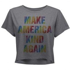 Make America great Again Colorful Woman's T-shirt